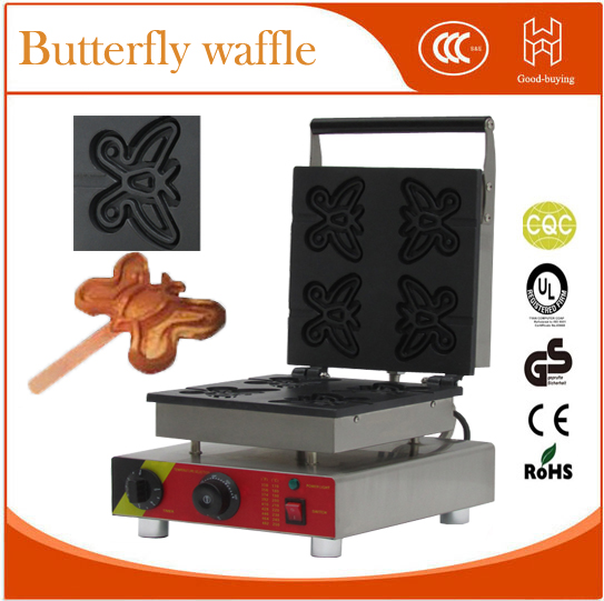 free shipping reataurant kit equipment snack Electric butterfly shape  French Muffin machine Lolly Waffle maker