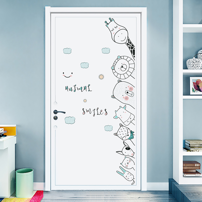Bedroom Door Stickers Cornersticker Baby Wall Sticker For Kids Room Wall Decorations Living Room Home Accessories