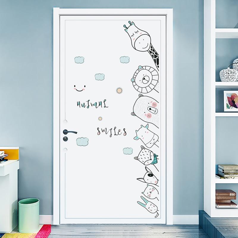 Porta do quarto adesivos cornersticker adesivo de parede do bebê para o quarto das crianças decorações de parede sala estar acessórios para casa