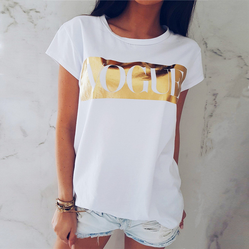 Harajuku Letter Summer T Shirt Women Blusas Feminina T-Shirt Loose Tops Tee Casual Tshirt Woman Clothes O-Neck Plus Size 2XL
