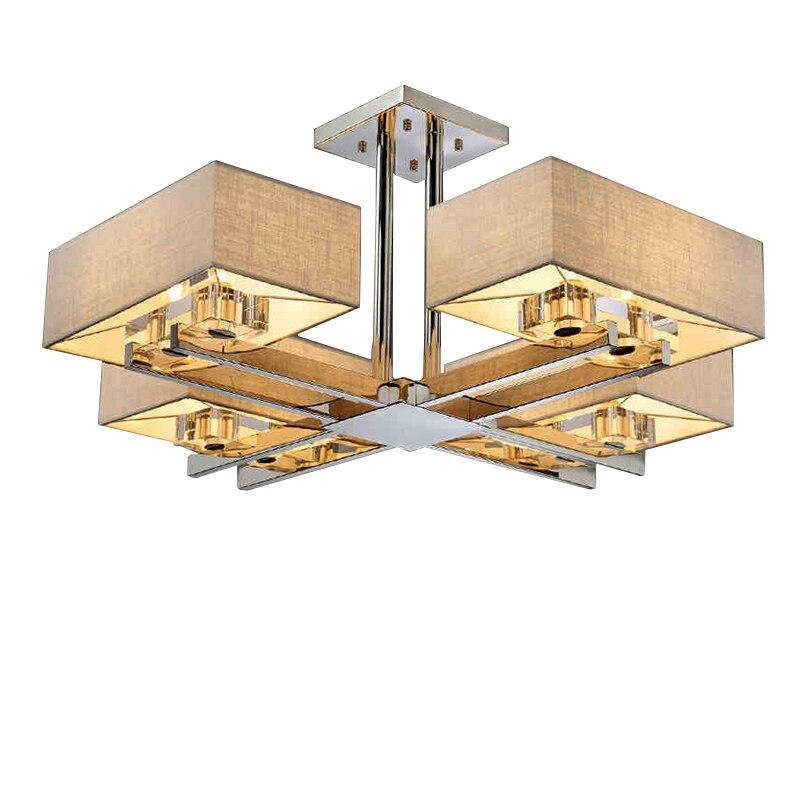 US $151.48 30% di SCONTO|Surface Mounted LED Plafoniere Plafoniera Quadrata  Lustri De Sala Plafoniere Moderne Per Soggiorno Spedizione Gratuita-in ...