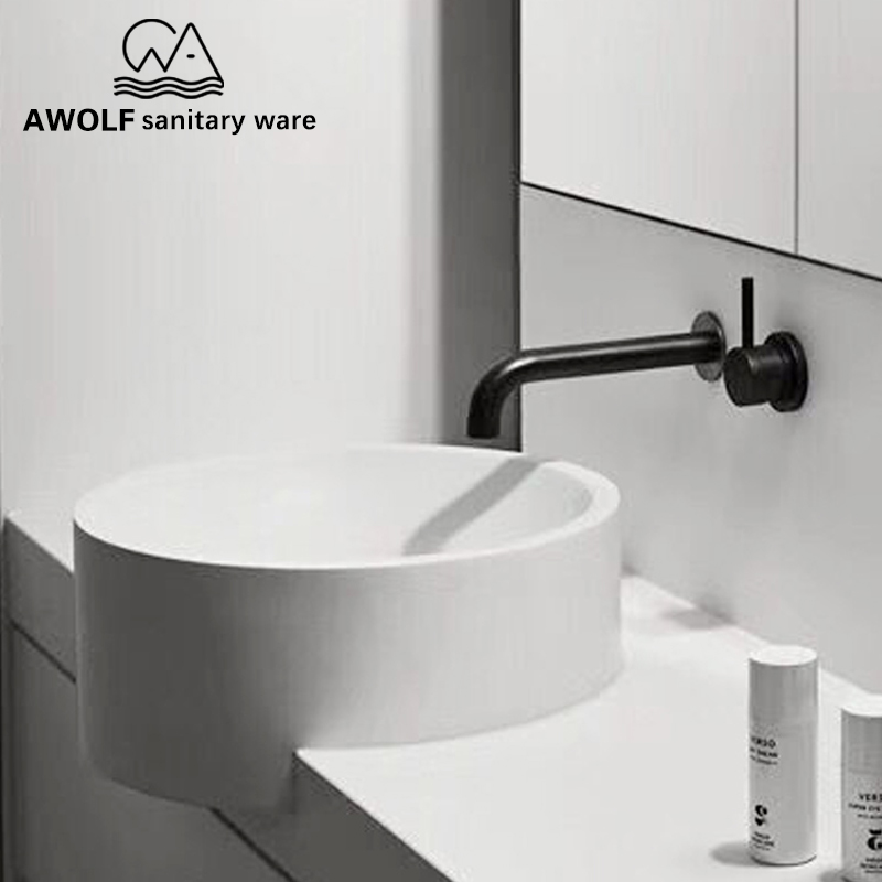 Solid Brass Basin Faucet Tap Bathroom Wall Mounted Spout Matte Black Bathtub Shower Mixer Hot Cold
