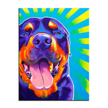 Full drill diamond embroidery animal Color dog 5d diy painting rottweiler duncan Cross Stitch Rhinestone mosaic Crafts
