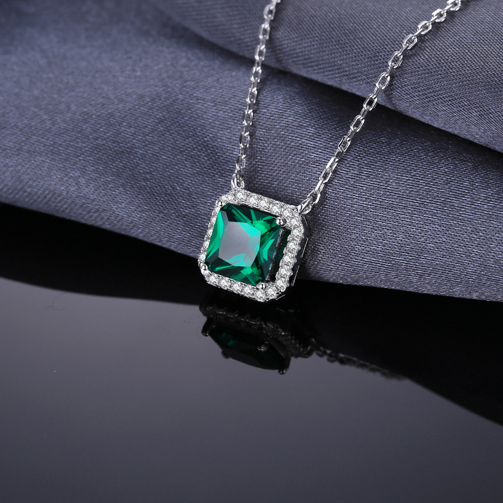 Jewelrypalace square 12ct created emerald real 925 sterling silver jewelrypalace square 12ct created emerald real 925 sterling silver solitaire pendant necklace 45cm jewelry on sale 2018 new in necklaces from jewelry aloadofball Images