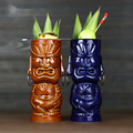 Гавайские кружки Tiki, Коктейльная чашка, кружка для пива, напитков, кружка для вина, керамические кружки Tiki