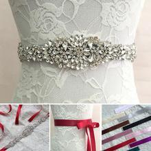 Fashion Crystal Rhinestone Wedding Bridal Dress Belt Cummerbunds