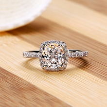 Rings Show Elegant Temperament Jewelry Womens Girls White Silver Filled Wedding Ring BE01