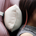 Soft  Foam PU Leather Memory Cotton Car Pillow Neck Support High-adjustable Strap Compact Design Headrest Neck Pillow for Car