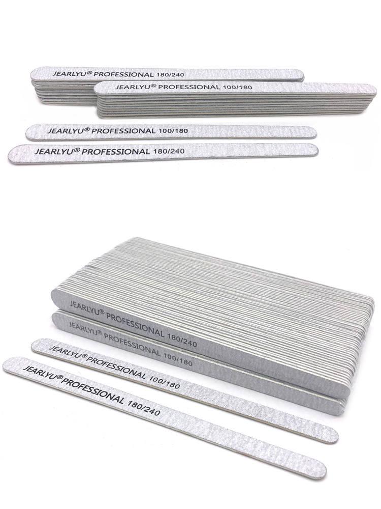 Buffer-Block Nail-File Sandpaper Pedicure Manicure-Polishing-Tools Wooden Grey Professional