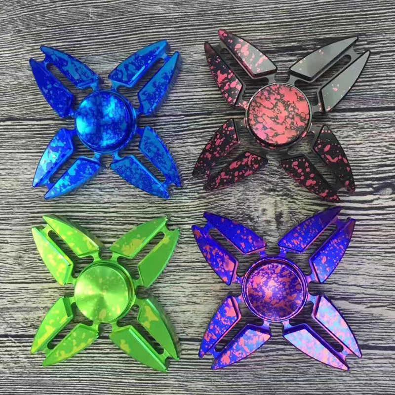 Мода четыре угла Спиннер синий черный игрушка EDC ручной Спиннер Reliever и EDC игрушки для детей и взрослых