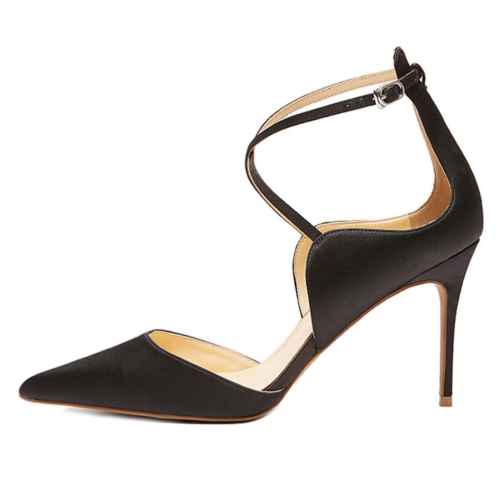 ФОТО Inisastyle 2016 New Fashion buckle-strap women's shoes stiletto pointed toe ladies pumps Cross-tied solid sandals big size4-15