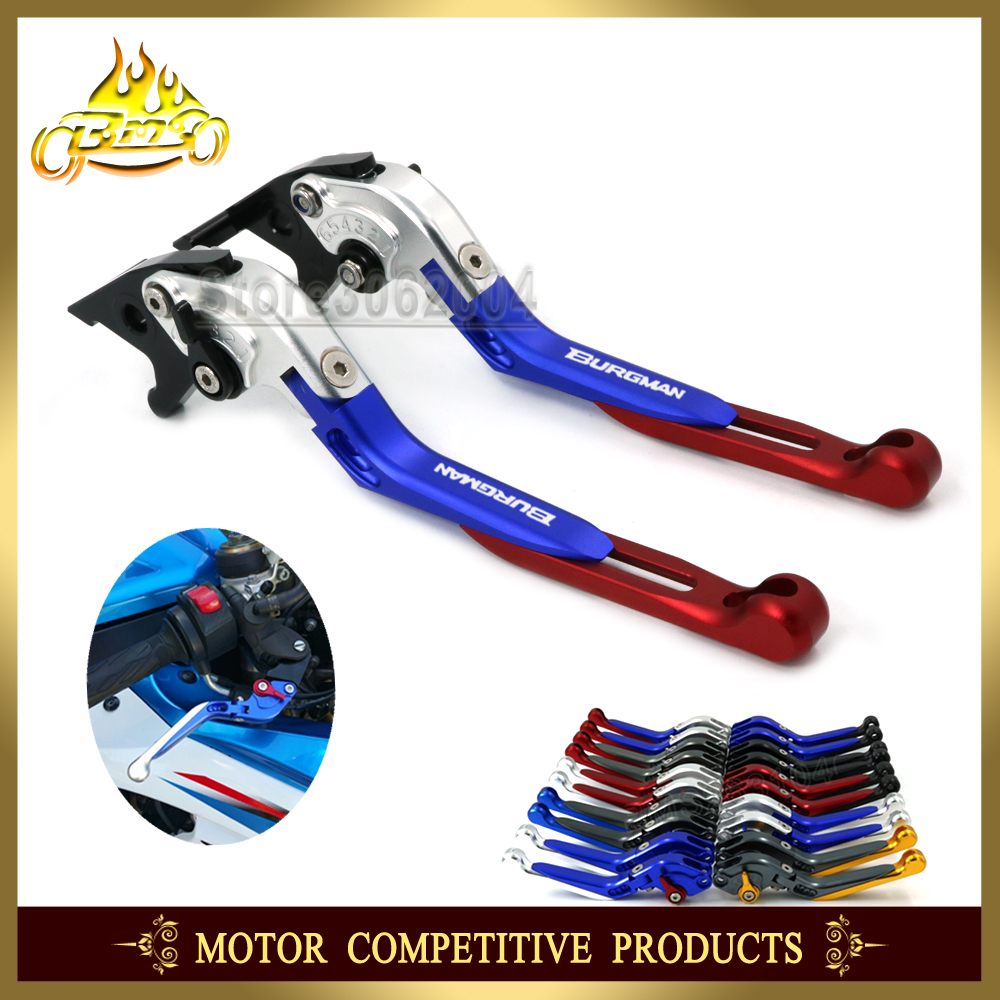Folding Extendable Adjustable Brakes Clutch Levers Motorcycle For SUZUKI AN 250 AN 400 UH 125 UH