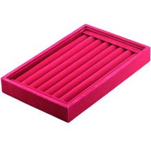 MMS 6Colors Velvet Cufflinks Finger Rings Display Box 24Pairs Capacity Wedding Red 1.14x8.664x5.55 inch Gift Packing