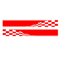 HotMeiNi Flag Dynamic Movement To Accelerate Forward Racing Sport Car Sticker Caravan Travel Trailer Campervan Vinyl Decal