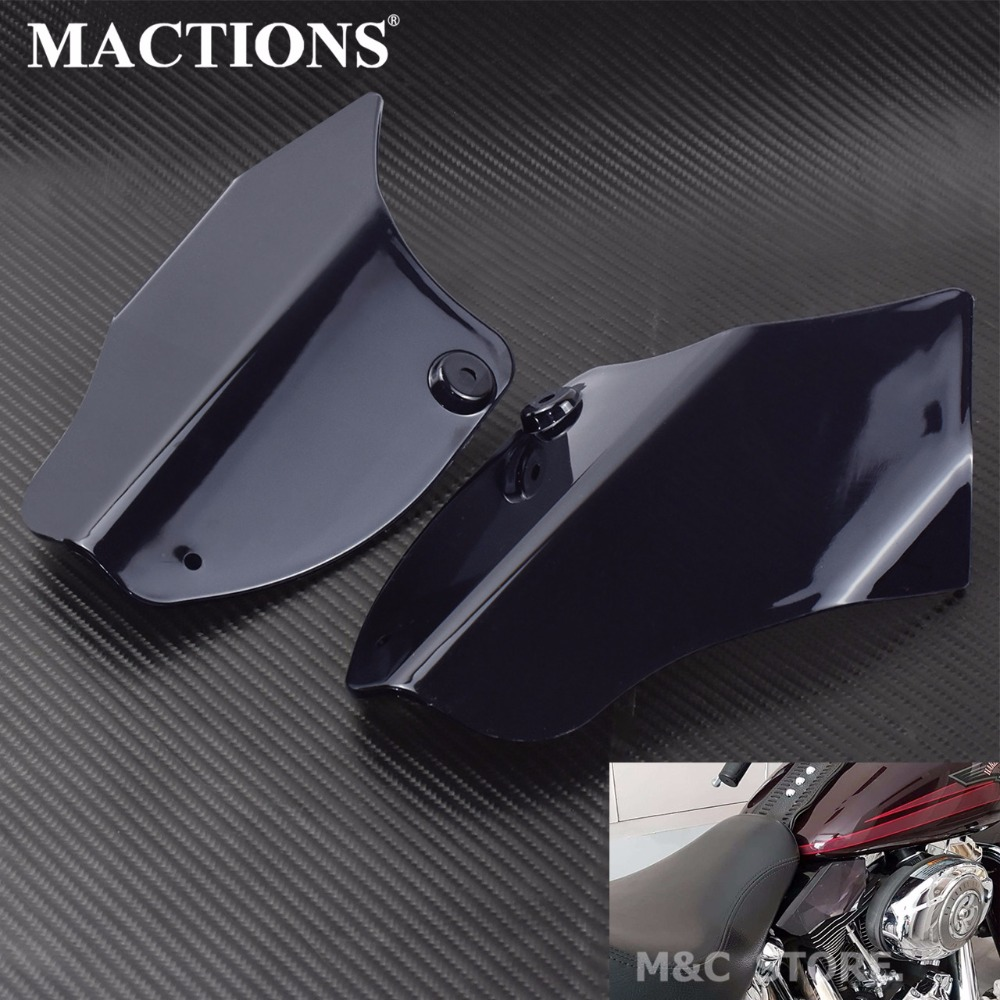 Motorcycle Reflective Saddle Shields Heat Deflector Saddle Shields Air Heat Deflector For Harley Softail FLS FXS