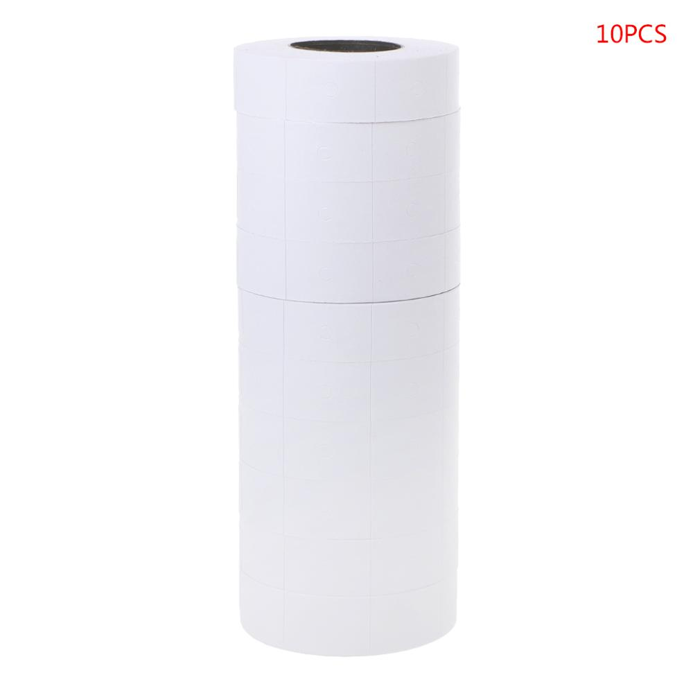 10 Rolls Price Label Paper Refill Tag Mark Sticker Double Row For MX-6600 Labeller Gun Tag  Packages  Store Pricing