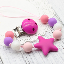 Baby Silicone Teether Pacifier Clip Holder Pacifier Clip  Chewable Beads BPA