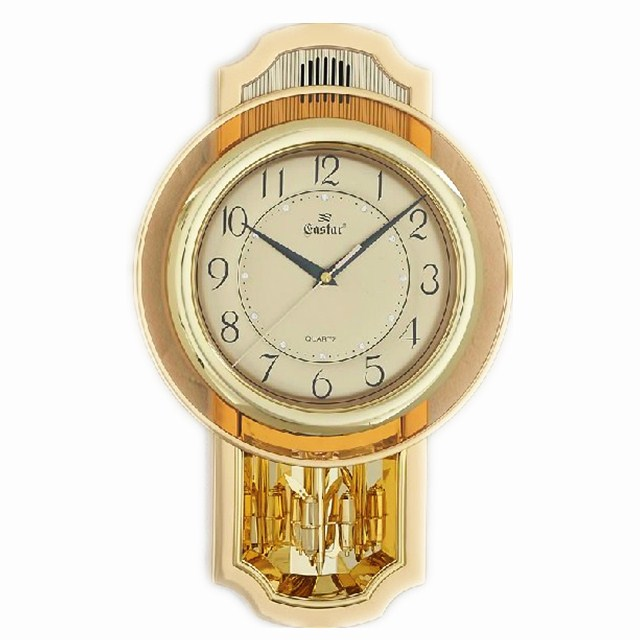 Genuine free shipping Oriental Star Gold 16 inches mute wall clock