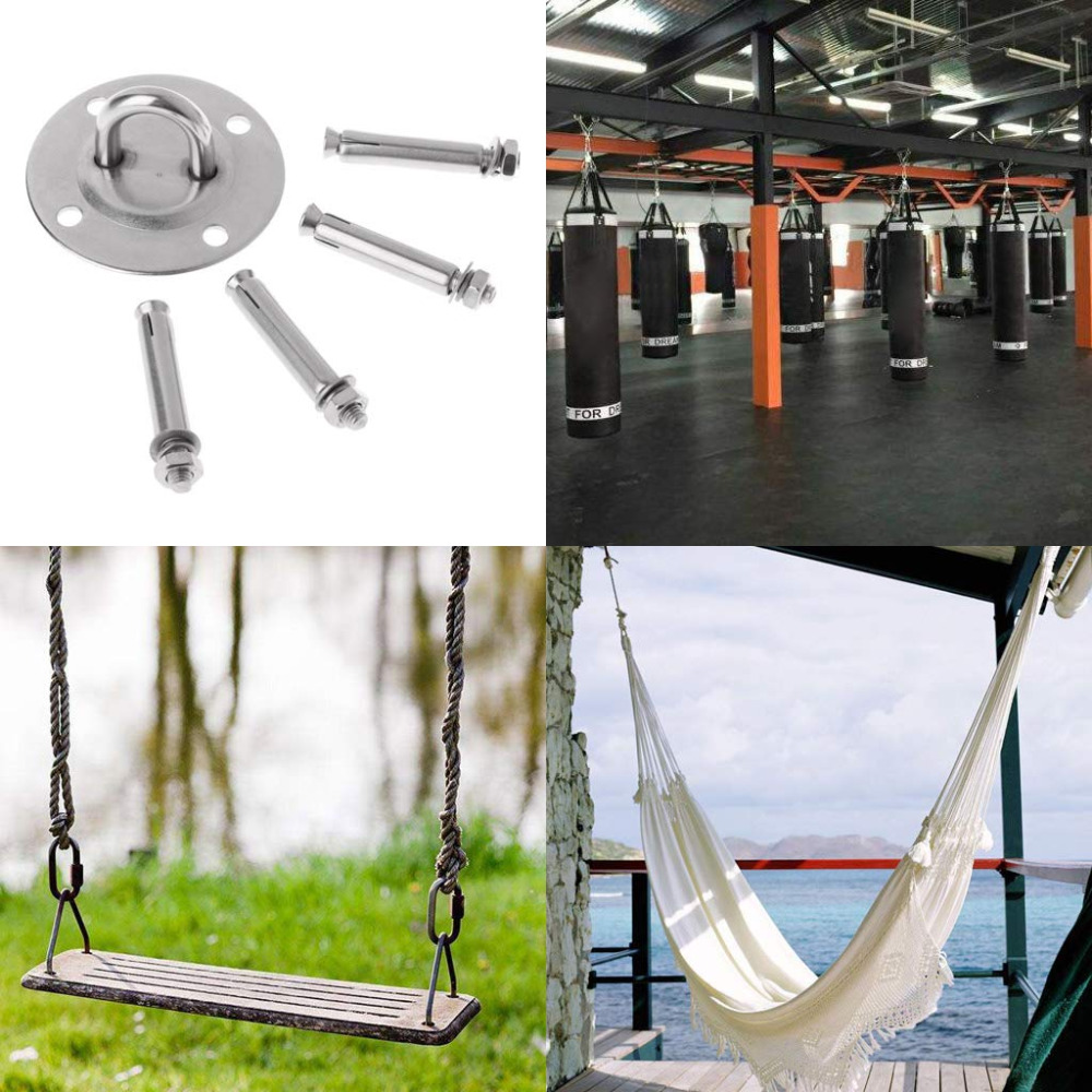 (SHIP NOW ) Yoga Accessories Hammock Wall Mount Anchor Hooks Heavy Duty Hanging Kit for Aerial Yoga/Ceiling/Gym/Swing 4
