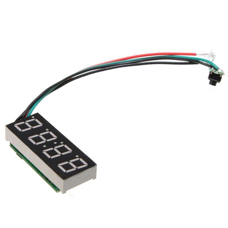 LED Numérique Horloge Pour 24 Heures De Voiture MOTO Réglable 7-30 V DC Blanc