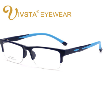 IVSTA TR90 Men Glasses Cyele Half Rim Eyeglasses Frame Flexbile Silicone Optical Frame Football Goggle Prescription Lenses 1 74 index anti blue ray prescription optical eyeglasses spectacles lenses rx able lenses free assembly with glasses frame
