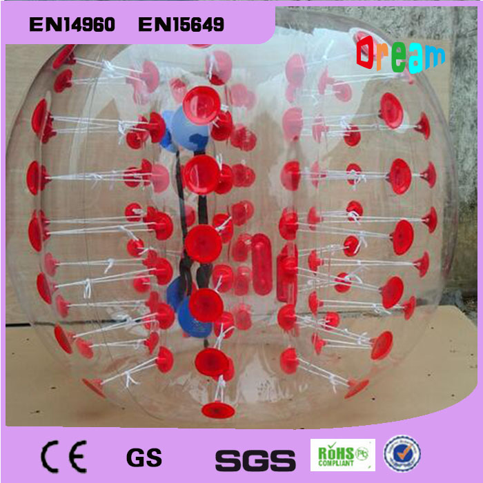 Free Shipping TPU Material 1.5m Bubble Foot Inflatable Bubble Soccer Ball Bumper Football Air Zorb Ball For Adult