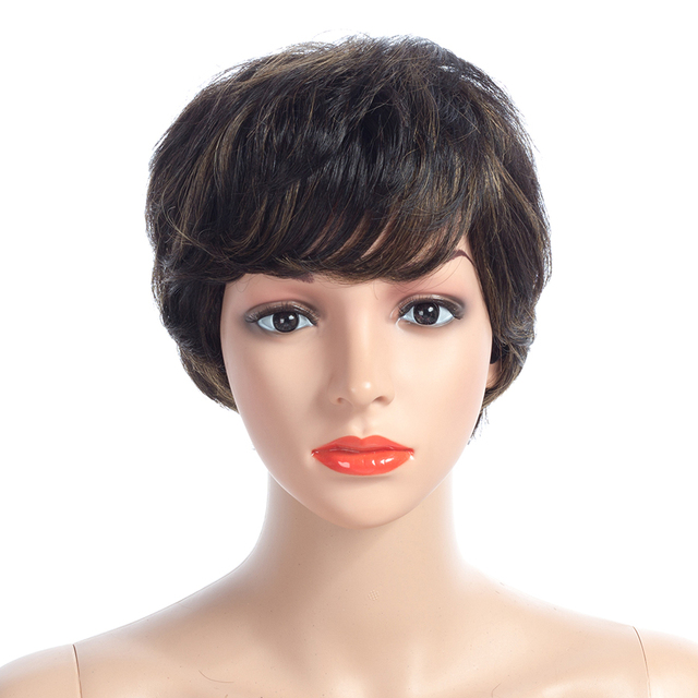 Short Bob Wigs with Bangs
