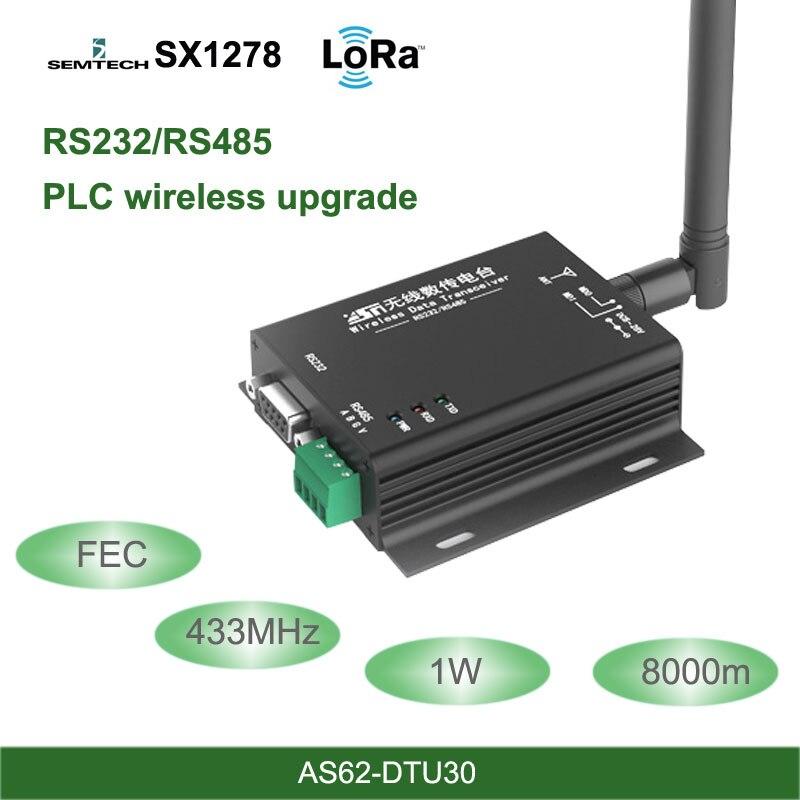 LoRa DTU 433MHz SX1278 RS485 RS232 Interface rf DTU Transceiver 8km FEC Wireless uhf Module 433M