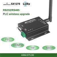 LoRa DTU 433 мГц SX1278 RS485 RS232 Интерфейс rf DTU трансивер 8 км FEC Беспроводной модуль UHF 433 м РФ передатчик и приемник