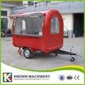 Les chariots de nourriture mobiles les plus vendus/remorque/camion de crème glacée/chariots de casse-croûte pour la couleur rouge avec un seau de peinture