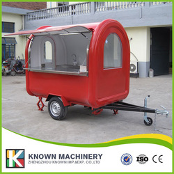 The best selling mobile food carts/trailer/ ice cream truck/snack food carts for red color with a bucket of paint