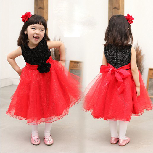 Popular Red Black Flower Girl Dresses-Buy Cheap Red Black Flower ...