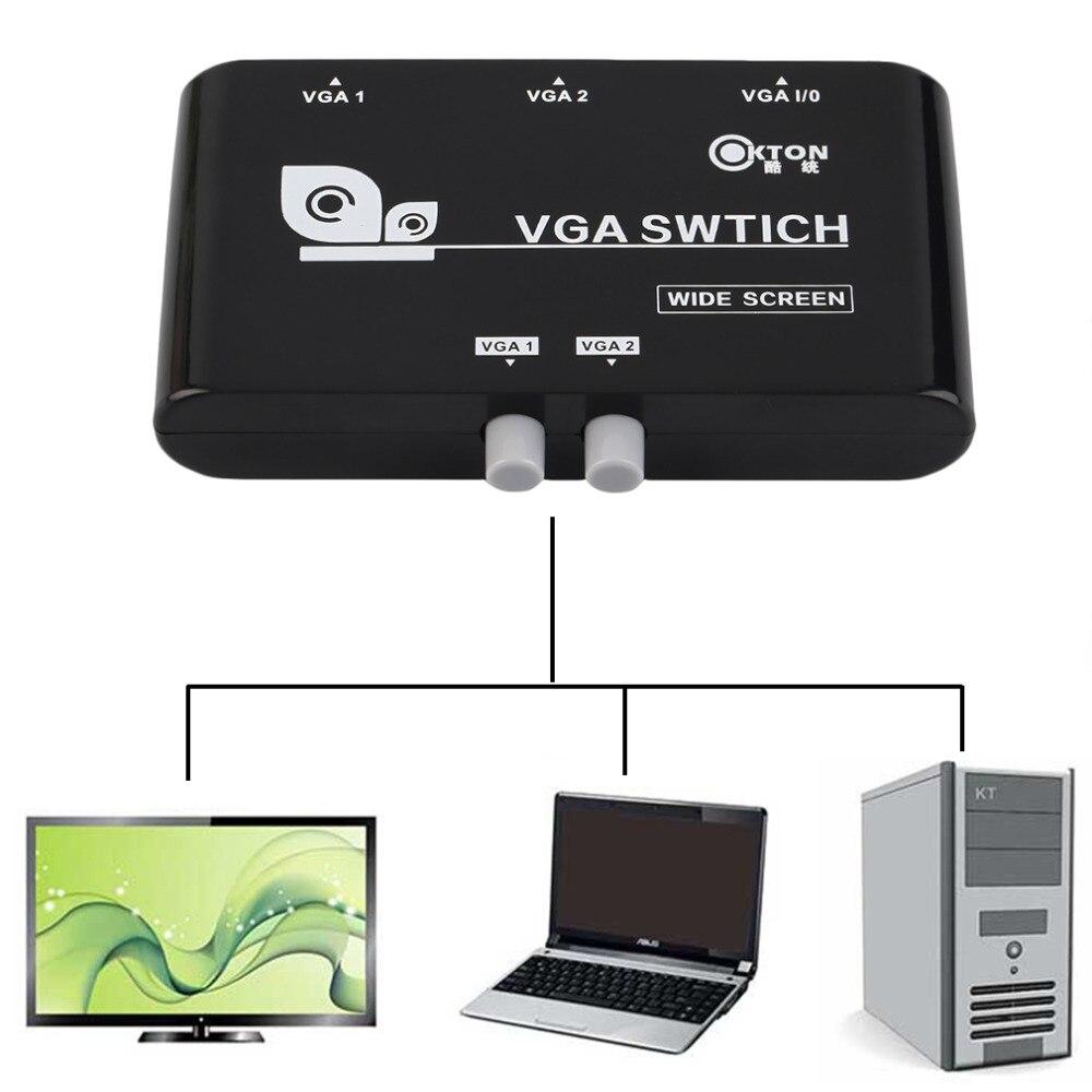 Computer-peripheriegeräte Neue Original 2 In 1 Heraus Vga/svga Manuelle Sharing Selector Switch Box Switcher Für Lcd Pc Freies Verschiffen Computer & Büro