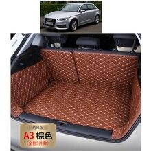 Ajuste personalizado couro pu forros de carga do carro para audi a3 2012 2013 2014 2015 2016 2017 s3 rs3 5d carga forro