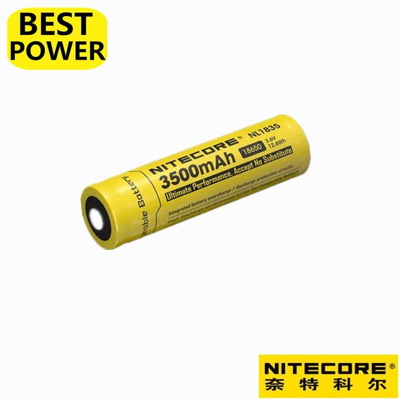 1 шт. Nitecore nl1835 18650 3500 мАч (новая версия nl1834) 3.7 В 12.6wh Перезаряжаемые Li-на Батарея высокого качества с защитой