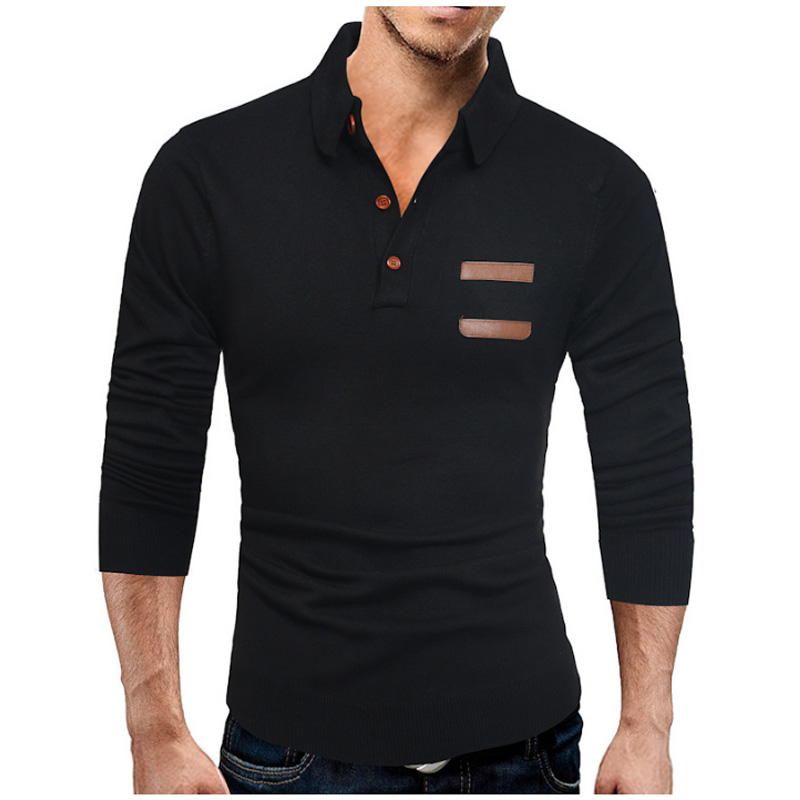 Mens   Polo   Shirt Brands 2019 Male Long Sleeve Fashion Casual Slim Solid Stitching   Polos   Men Jerseys Large Size 3XL