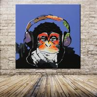 Decorative Art Handmade Oil Painting On Canvas Living Room Home Decor Wall Paintings Thinking Orangutan Animal