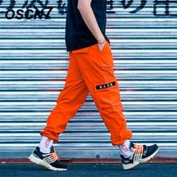 OSCN7 свободные полосы для отдыха карман брюки-карго Для мужчин 2019 уличной моды обычная, высокая, на выход брюки мужские K171