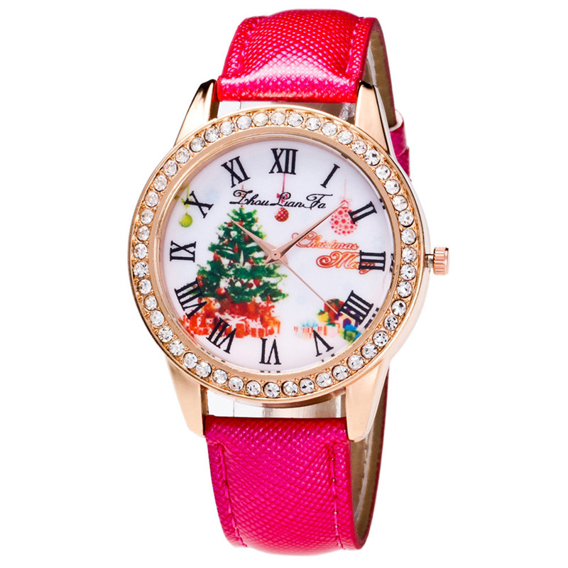 Weihnachtsgeschenke Männlich Weiblich Uhr Weihnachtsbaum Pattern ...