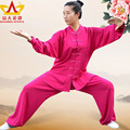 Autumn and winter clothing female male cotton linen long-sleeved exercise practise martial arts Taichi Uniform  Chinese Wushu