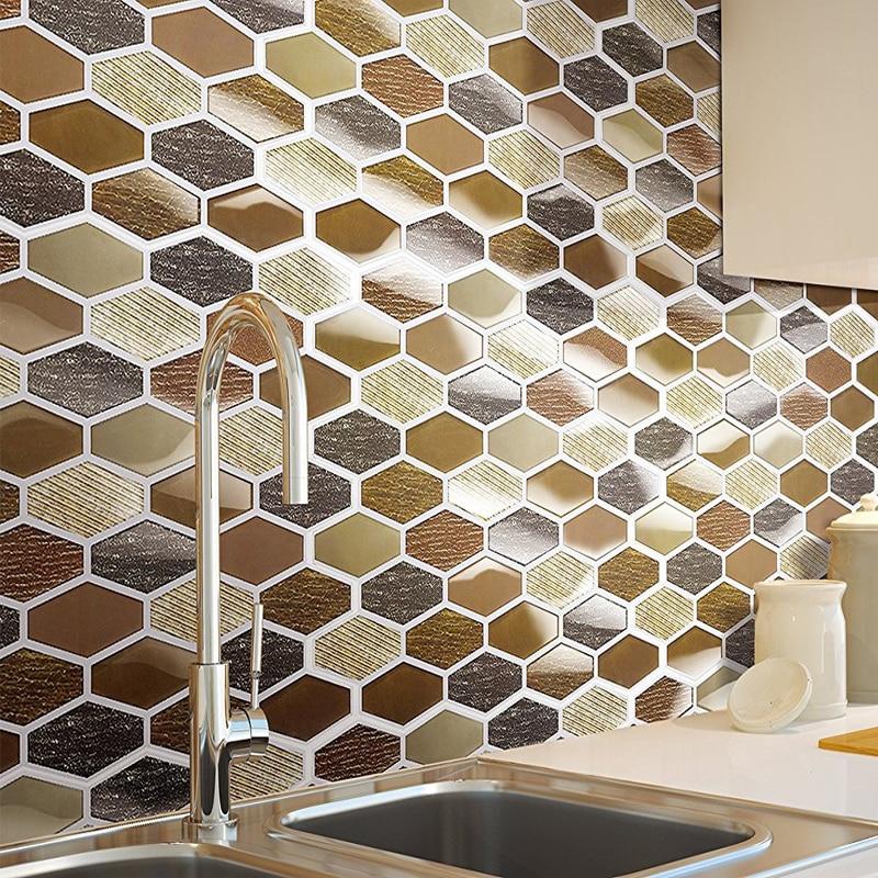 carrelage mural adhesif en vinyle carreaux decoratifs mosaique de cuisine moderne