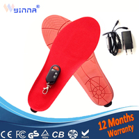 NEW heated Insoles Warm insoles Winter thick insole With battery women boot shoes accessories orthopedic insole large black