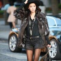 Winter fashion women's fur coat fox fur mink coat long paragraph pure natural fur half sleeve vest
