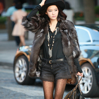 Winter fashion women's fur coat fox fur mink coat long paragraph pure natural fur half sleeve vest