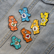 DMLSKY 6 styles Care Bear Enamel Pins Creative Brooches Backpack Clothes Badge collar Fashion Accessories M2261