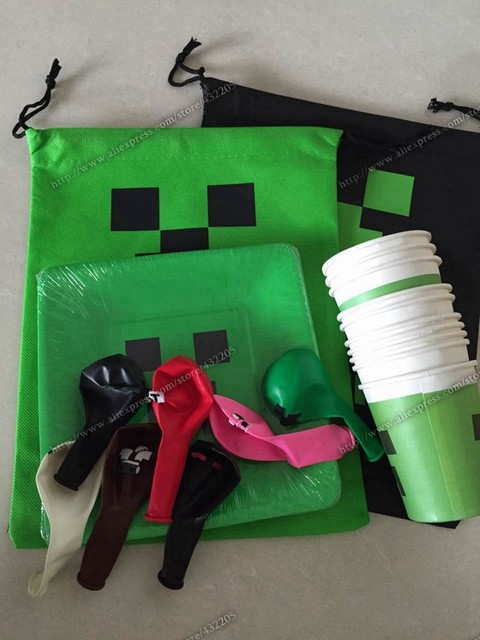 minecraft party supplies set 50 paper cups 50 paper plates 140