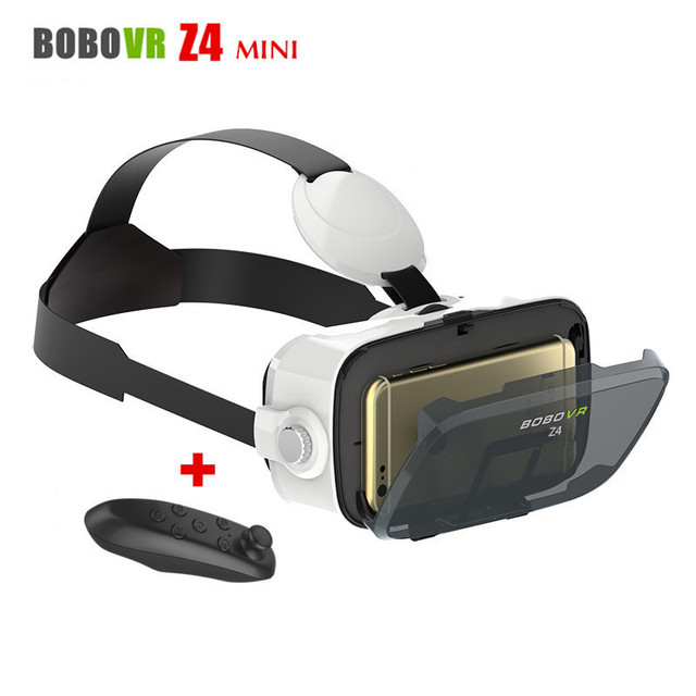 Head-Mounted Cardborad BOBOVR Z4 Mini Mobile 3D Video Helmet Virtual Reality Glasses VR Headset for 4.7-6 Smart Phone+Controller