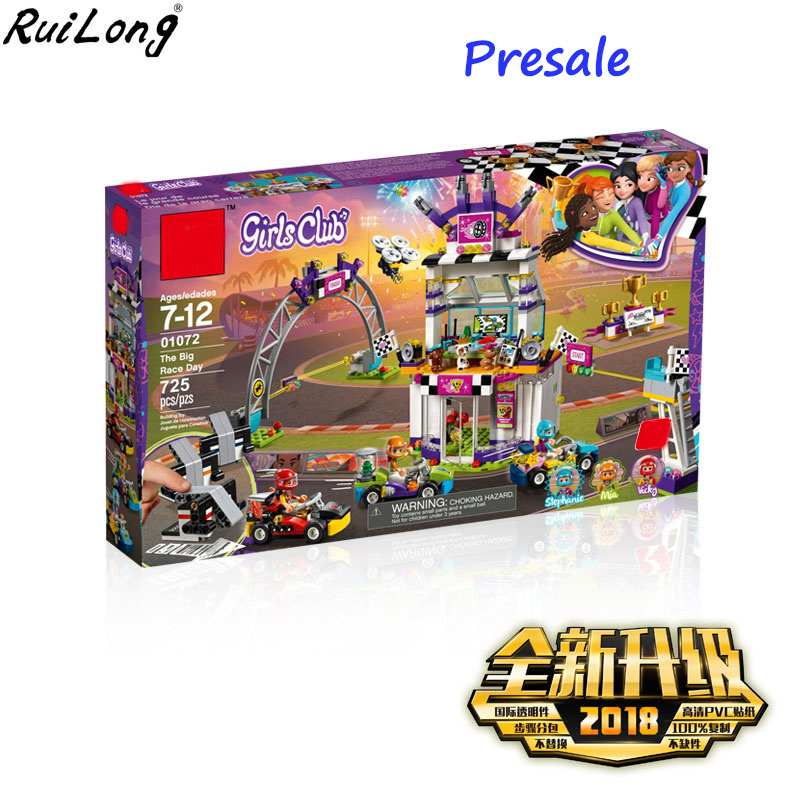 New Friend Heartlake City the Big Race Day DIY Compatibility Legoingly Friends 41352 Model Building Blocks Bricks Girl Toys Gift race day grub