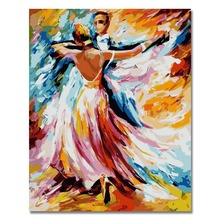 RIHE Dance Lover DIY Oil Painting By Numbers, Modern Canvas Home Wall  Decor For Living Room, Acrylic Paint 40x50cm