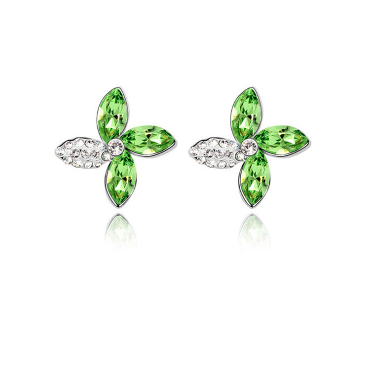Crystal Flower Earring 2